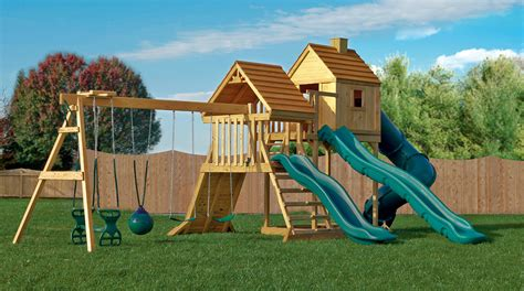 wooden backyard playsets finding a playset that is fun and safe
