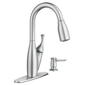 moen pull kitchen faucet moen kendall spot resist stainless 1 handle pull sink