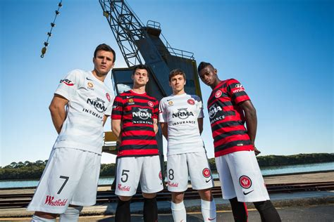 western sydney wanderers and nike unveil new home and away