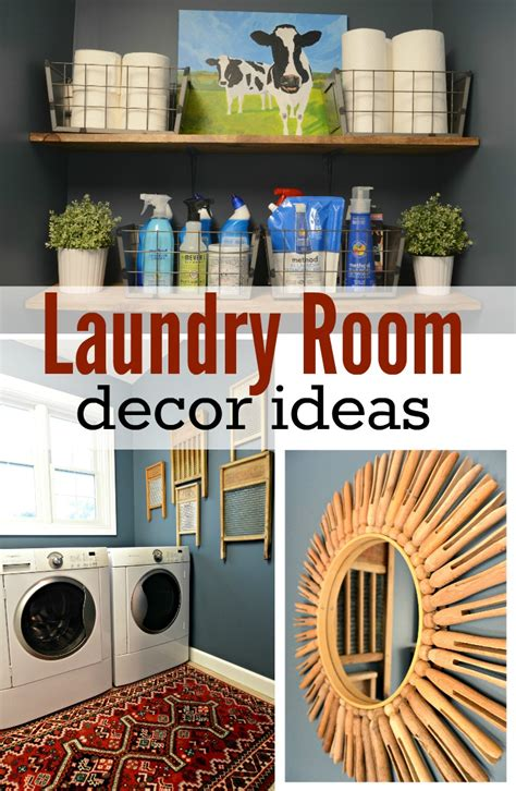 decor for laundry room laundry room makeover reveal decor and the
