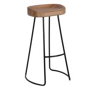 Wood And Metal Bar Stool Industrial Oak Bar Stool