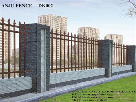 prefab fence sections models wrought iron garden wall fence prefabricated with