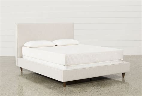 living spaces beds dean sand queen upholstered panel bed living spaces