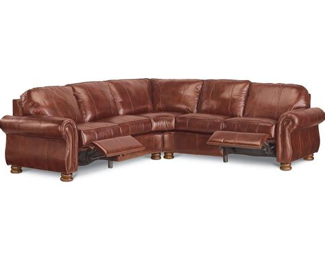 thomasville benjamin leather sectional benjamin motion sectional two piece leather