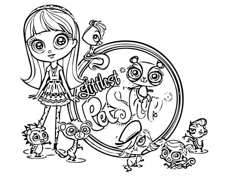 25 shop coloring page free littlest pet shop coloring
