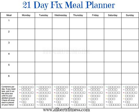 Galerry printable meal planner slimming world