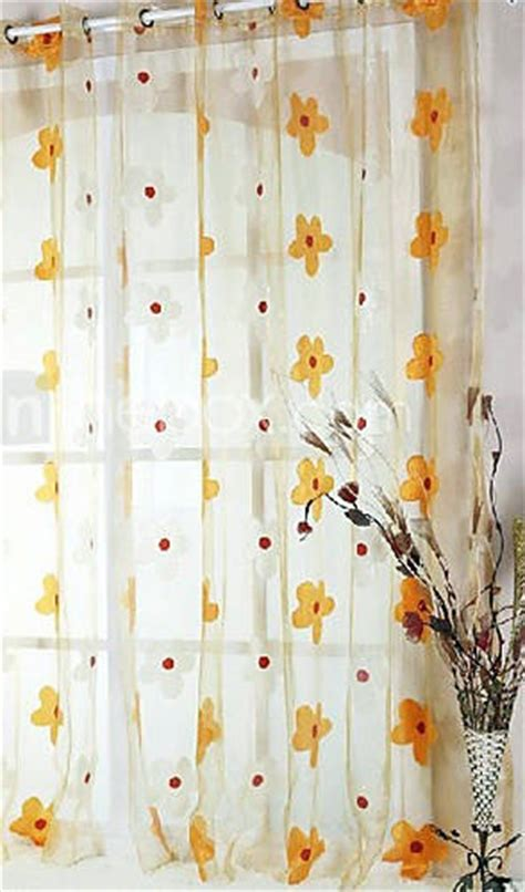 yellow flower curtains 17 best images about sheer curtain ideas on pinterest