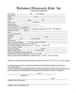 club membership application form template 12 sle membership application forms sle forms