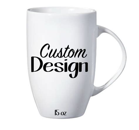 design your own latte mug custom design personalized tall latte mug your words