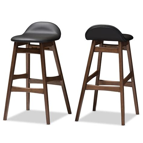 mid century modern leather counter stools ploom leather mid century barstool 2 set modern