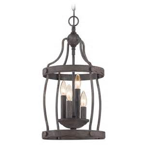 Rustic Pendant Lighting Quoizel Rustic Black Pendant Light Qf1839rk Destination Lighting