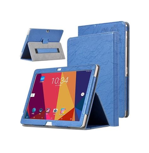 Cover Tablet Advan X7 Pu Leather Folding Stand Cover For 10 1 Inch Alldocube Cube Free X7 Tablet Blue