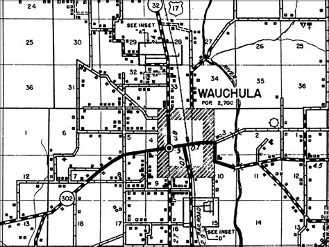 hardee county florida map wauchula 1936