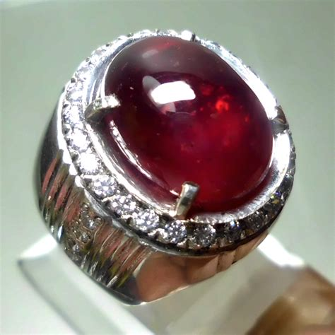 Promo Cincin Ruby Pigeon Blood Ring Perak Mewah Kekerasan 10 Mh pigeon blood ruby sold out jual batu permata mulia agate asli