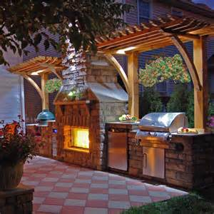 Outdoor Kitchen And Fireplace Designs outdoor clark kitchen and fireplace project