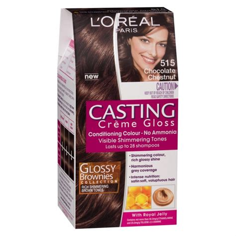 l oreal inoa no 5 3 with 6 20vol inoa deeveloper permanent hair color brown light golden 60 gm buy cr 232 me gloss 515 chocolate chestnut 1 pack by l or 233 al priceline