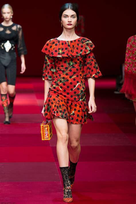 Mellan Fashion Maxi Polka Godwin dolce gabbana summer 2015 collection milan fashion week fab fashion fix