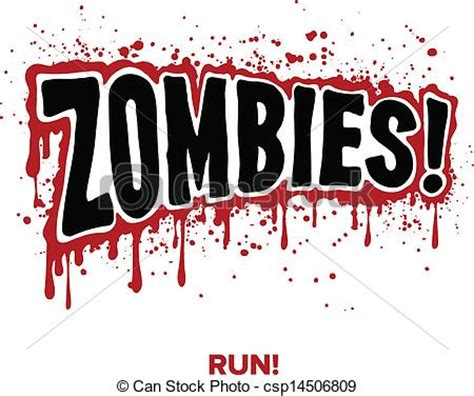 Green Home Design Plans vector clipart of zombie text zombies text lettering