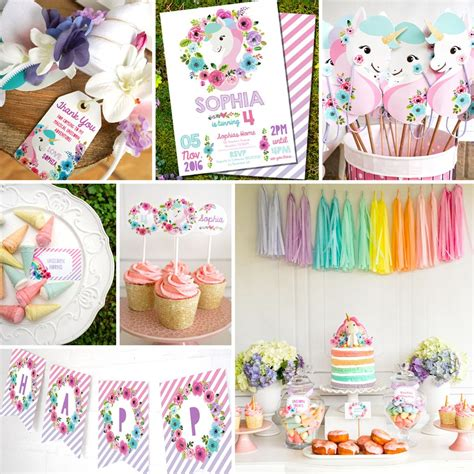 Decoration Ideas For Engagement Party At Home by Unicorn Birthday Party Decorations Watercolor Floral