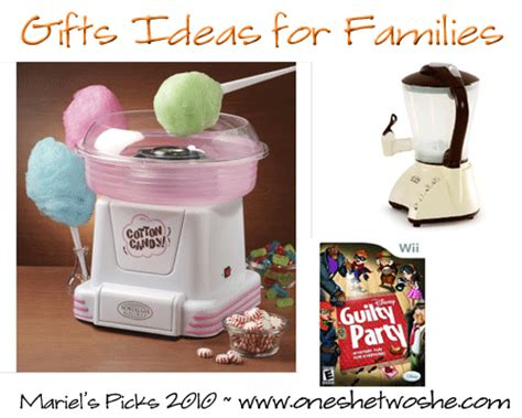 Gift Ideas For Family Members - gifts for families mariel s top picks 2010