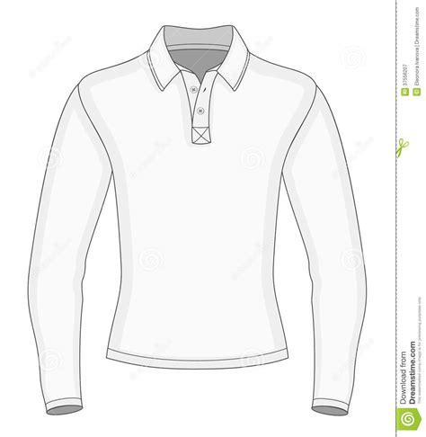 polo t shirt pattern vector men s long sleeve polo shirt royalty free stock