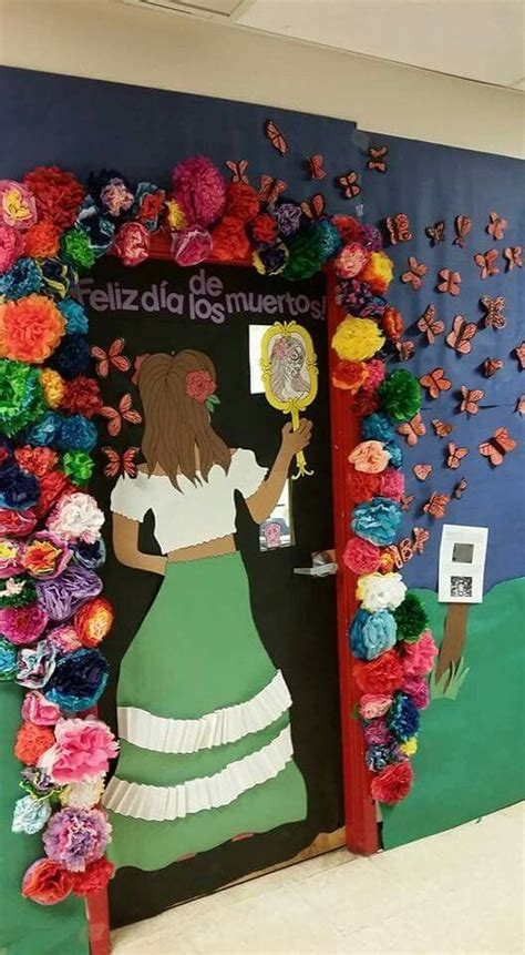 How To Decorate For Dia De Los Muertos by 25 Best Ideas About Classroom Door On