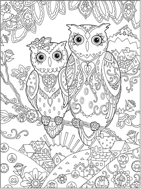 coloring book for adults free coloring pages owls