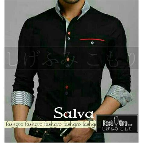 Baju Kantor Cowok Murah Kemeja Fashion Pria Terbaru Termurah Mm 63750 kemeja pria keren terbaru murah salva ryn fashion