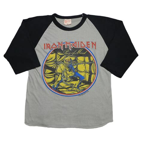 Baju Vintage Iron Maiden iron maiden world tour jersey 1983 wyco vintage