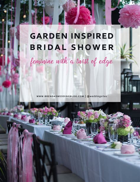 pink and black bridal shower decorations a garden inspired bridal shower in nyc at gramercy park hotel terrace with black and white