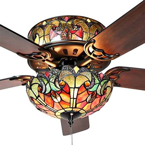 stained glass ceiling fan compare price stained glass ceiling fan on