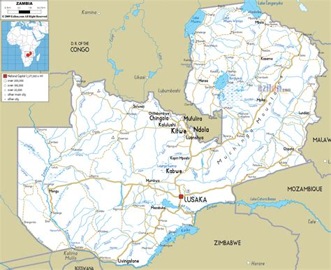 map of lusaka city maps of zambia map library maps of the world
