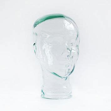 glass mannequin home vintage glass mannequin head striking from chapsandrascal on