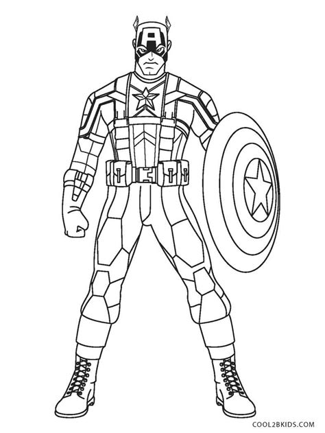coloring page free printable captain america coloring pages for