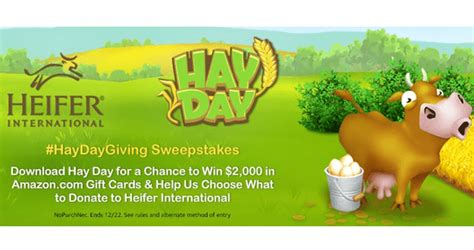 Amazon Com Sweepstakes - amazon hay day sweepstakes amazon com haydaysweepstakes