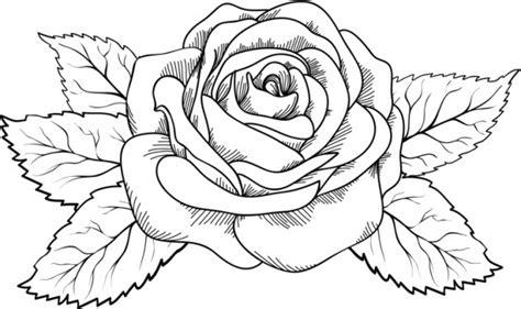imagenes bonitas para dibujar de cumpleaños dibujo para colorear rosa preciosa con ramas