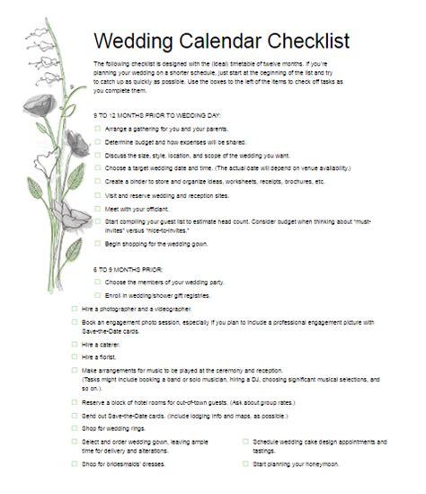 Wedding Checklist Pdf Free by Wedding Checklist Pdf Free Word Templates