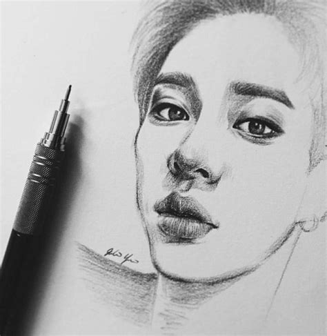 Kpop Drawing by 10 Best Kpop Drawings Images On Kpop Drawings