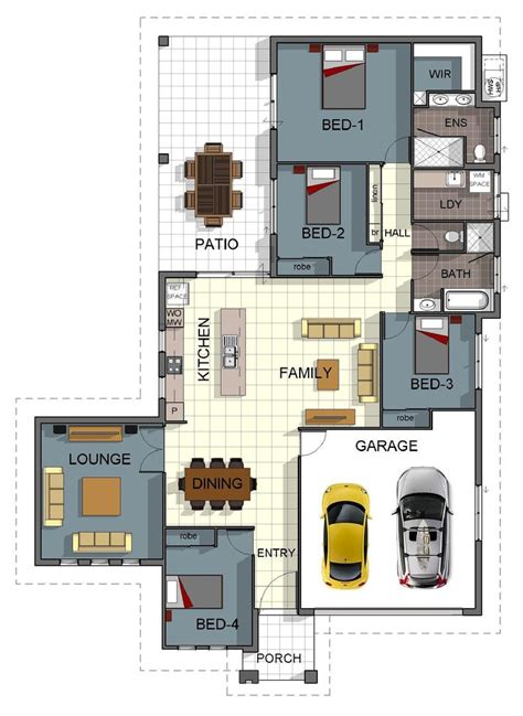 four bedroom double storey house plan 35 best images about house plans on pinterest house
