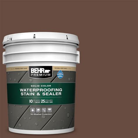 behr premium  gal sc  russet solid waterproofing