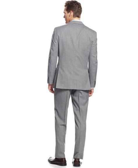 light gray vested suit lyst hilfiger light grey stripe vested suit in