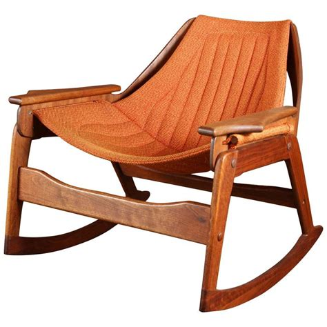 johnson chair jerry johnson midcentury walnut rocking chair at 1stdibs
