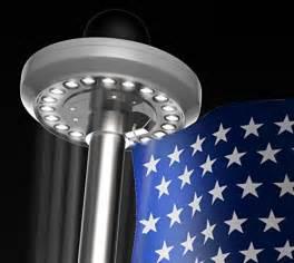 solar light for flag pole flagpole solar lights a practical solution funk this house