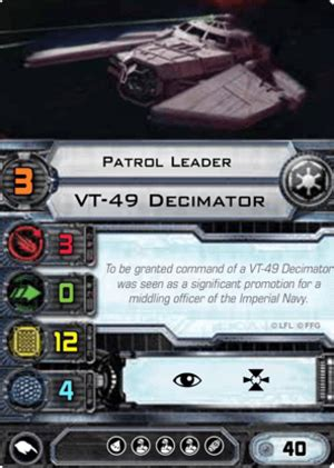 X Wing Pilot Card Template by Patrol Leader Vt 49 Decimator Pilot Cards X Wing