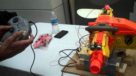 nerf remote control tank remote control nerf turret youtube