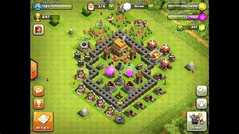clash of clans layout strategy level 5 level 5 town hall layout www imgkid com the image kid