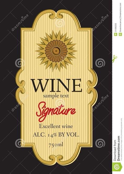 design free wine label wine label design royalty free stock image image 31496256