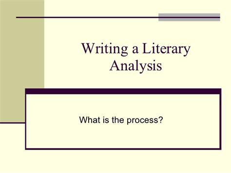 How To Make Analysis Paper - writing a literary analysis essay