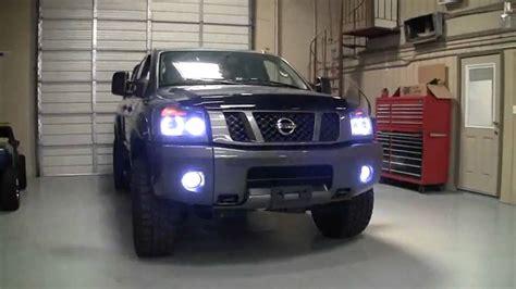 2009 nissan titan lights 2009 nissan titan 4x4 custom halo headlights by advanced