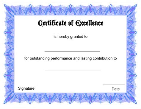 free online certificate template certificate templates